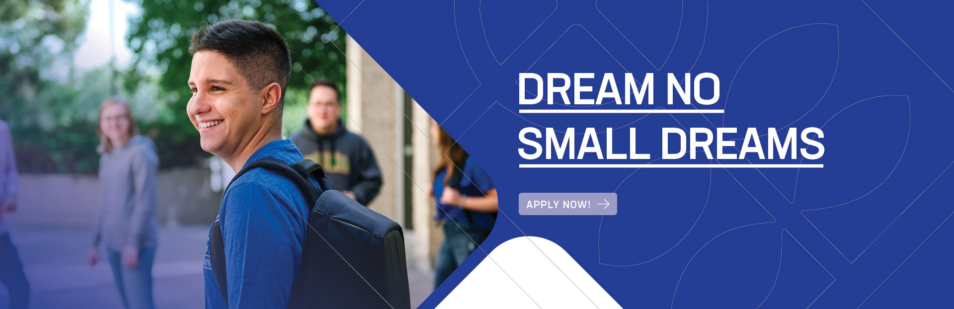 Apply Now Dream no small dreams Luther College at the U of R web banner
