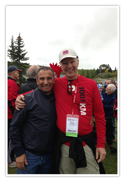 Randy (right) with Pat at a Kidney Foundation March in 2016