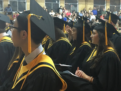 Students gather for Baccaleaureate and Closing Exercises, 2016